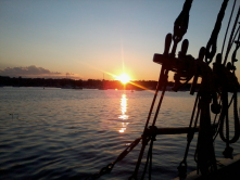 Sunset cruise on Connecticut River in Essex.