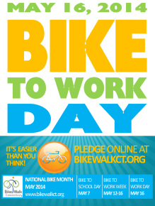 Bike to work day is Friday May 16th.