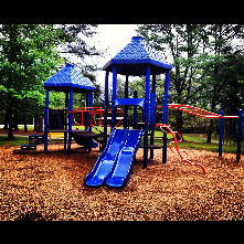 Playground structure at Unity Village park