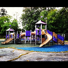 Morreene Road Park is home to a larger play structure, lighted tennis courts, lighted outdoor basketball courts, and multipurpose field