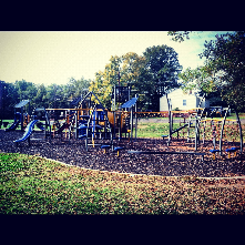 East Durham Park has a variety of features on play structure and also holds a youth baseball field, basketball courts and picnic shelter