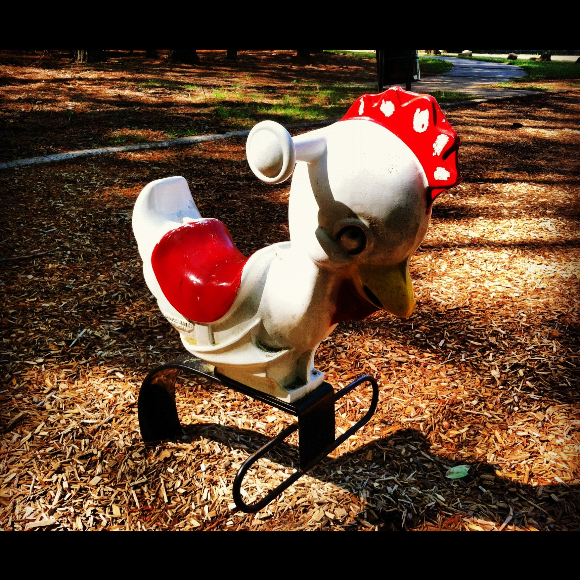 Chicken Playground Rocker at Valley Springs Park