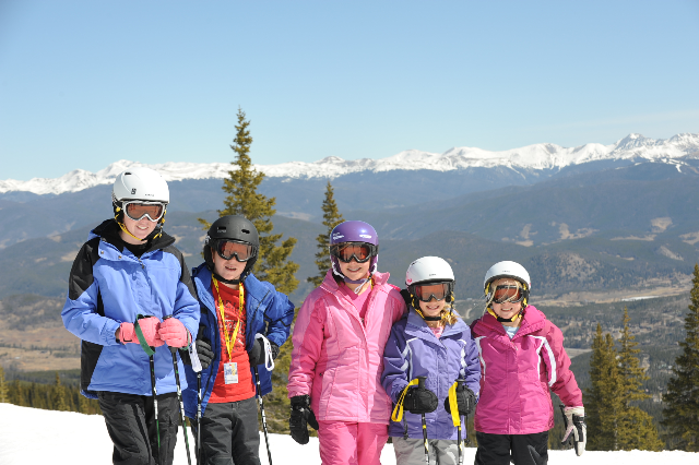 Spring skiing at Breckenridge with my 5 kids!