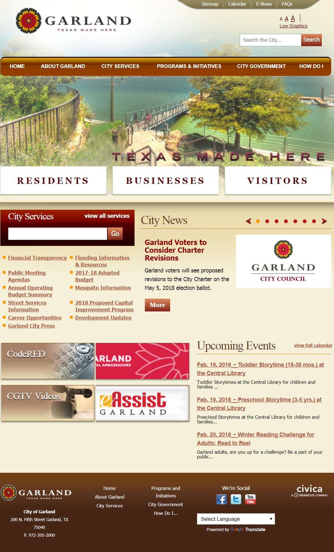 Garland Website Design and Functionality