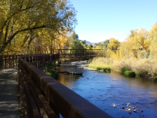 One of my favorite Fort Collins pics -- the bridge on the Poudre Trail.