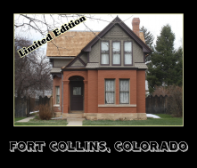 This North Grant Street house, built by Abner Loomis, was raffled off in 1888 to build interest in the Loomis Addition neighborhood.
