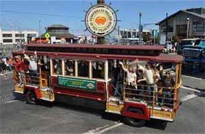 Old Fashion Trolley systems with in Frisco's sport venues...