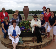The War Memorial Urn donated to the city of Frisco VFW by the Frisco Garden Club/ at Frisco Commons Park.