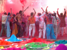 Indian festival of colors ( a place where all cultures are welcome and celebrated!)