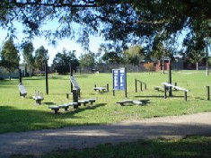 Fitness trails. Trails where there are fitness/exercise stations along the way. Note: trails have to be shaded for hot summer