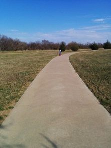 The paths at the Frisco Commons are great for walking, biking or roller skating!