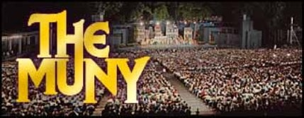 A outdoor theater venue similar to The MUNY in St. Louis.