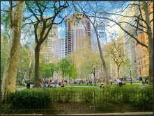 "Incorporate ""undeveloped"" park areas close to homes, like Rittenhouse Square, to enable people to get away from ""development""."