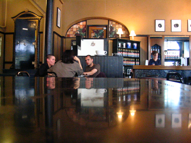 Inside the Urban Stampede. One of Grand Forks best known coffee shops. Taken spring of 2005.