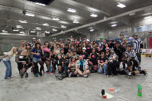 Forx Roller Derby - teams, volunteers- last game of the this season with a win for Forx Roller Derby over Duluth Derby Divas.