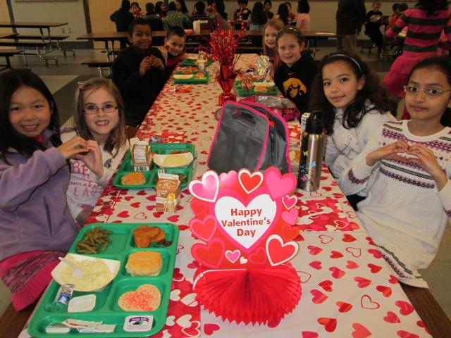 Borlaug Elementary Valentine's Table – PBIS reward
