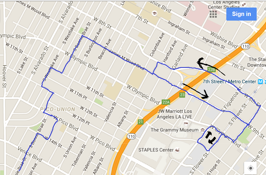 DASH - LA Live/Pico Union/USC   Moving Forward...ther - LADOT ... Dash Live Map on
