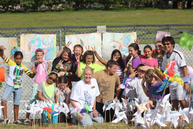 Pinwheels for Peace was a huge success at Pine Ridge Elementary! Gotta love us some Whirled Peace!