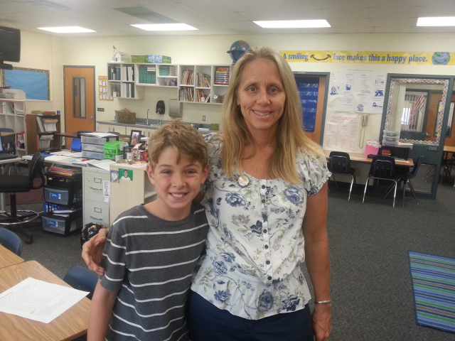 Ms. Sabourin is one of our favorite 4th grade teachers. 