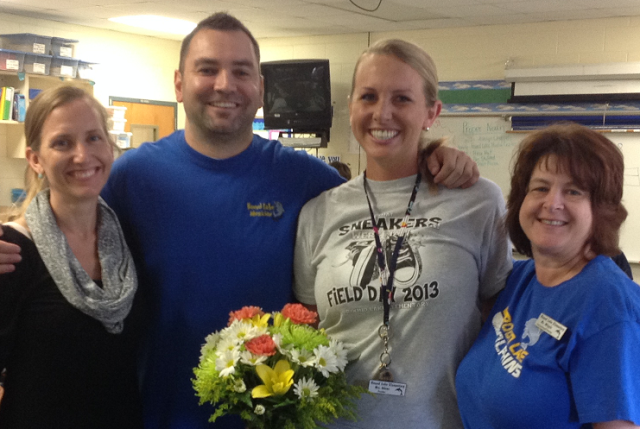 Round Lake Elementary's Teacher of the Year, Mrs. Rachel Adams!!