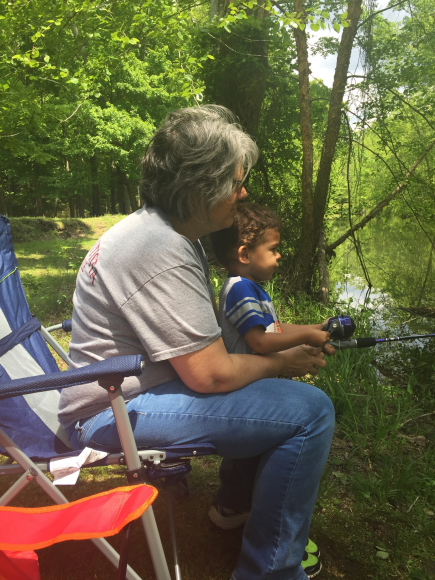 Naugural camping trip with grandson, hoping to instill a love of the outdoors