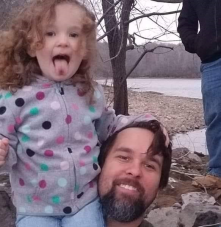 This is a picture of my daughter and I, and some friends all bonding during the 2018 Heritage Geocache Challenge.