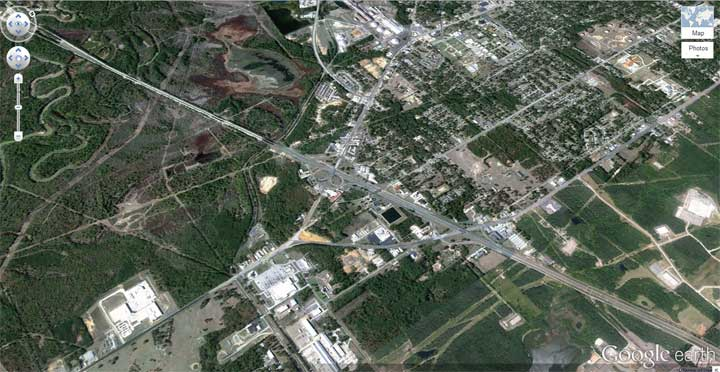 Developing under or unused land in south Longview.