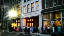 This is a view of 5th Avenue outside the art galleries during the art crawl. I'd love to see more art in all of Nashville's neighborhoods!