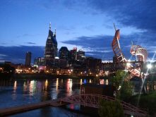 Lighting, public art & an active riverfront will promote safety & help unify both banks of the river downtown.
