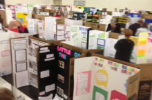 KMS hosted a Science Fair as a culminating activity to an inquiry-based project where students designed science experiments.