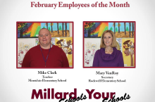 Employees of the Month are selected by their peers. It's an amazing honor in our Millard team of 3,000 staff members!