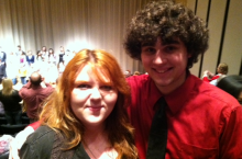 Courtney Cole and David Baker at UNL. These talented students won 2013 Nebraskan Young Artist Awards on 04/03/2014