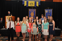 The Andersen Middle School Rotary Honor Roll students at the CenturyLink Center May 1.