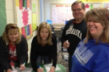 Central MS teachers actively engaged during professional development on Oct 18, 2012.