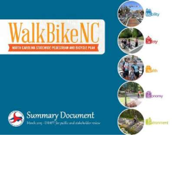 WalkBikeNC Draft Plan Cover