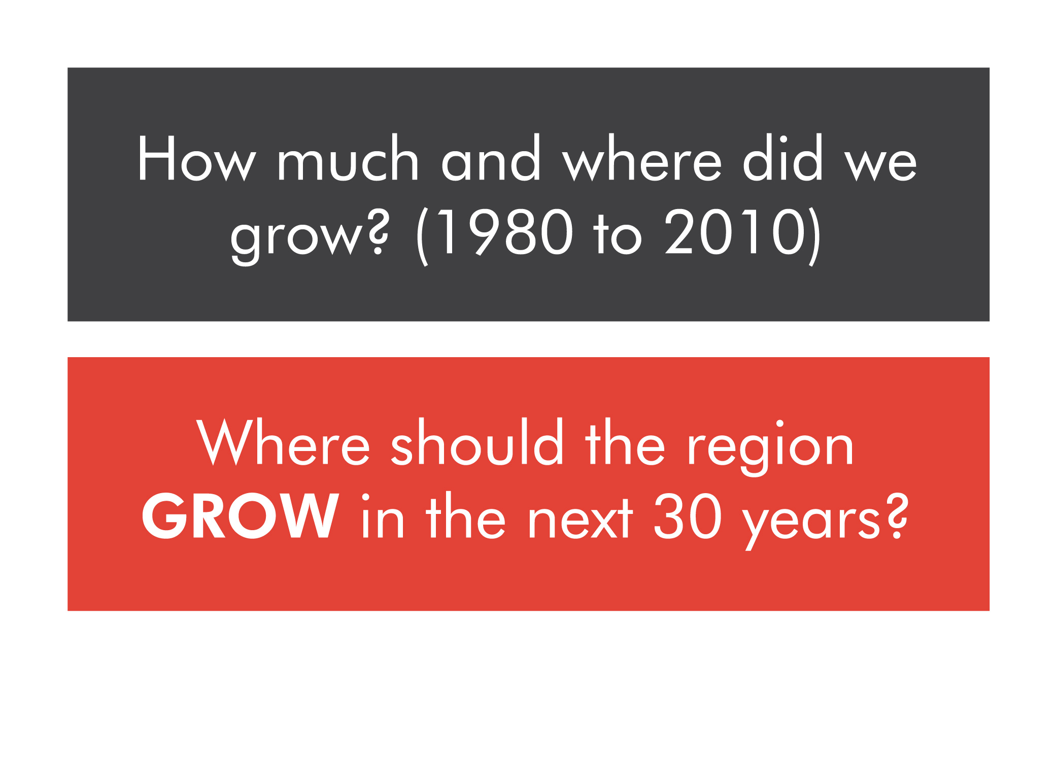 Where should the region grow?