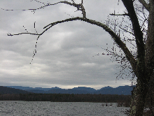 View across the Ashokan Reservoir in Ulster County.
