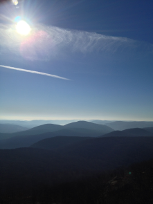 Looking south from the Mt Beacon fire tower.
