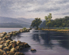 "From the lovely park in Croton.<br/>""Croton Landing I"", 8"" x 10"", oil on canvas panel<br/>www.kefauverstudio.c<wbr/><span class=""wbr""></span>om"