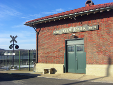 The Hyde Park Train Station in Dutchess County,