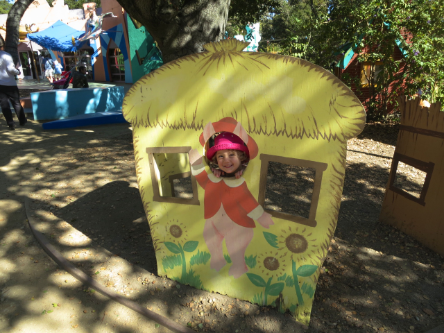 My goddaughter, having the time of her life, at Fairyland.