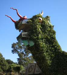 Fairyland entrance dragon, the good kind of scary.
