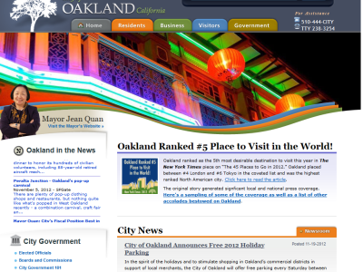 City of Oakland Website (oaklandnet.com)