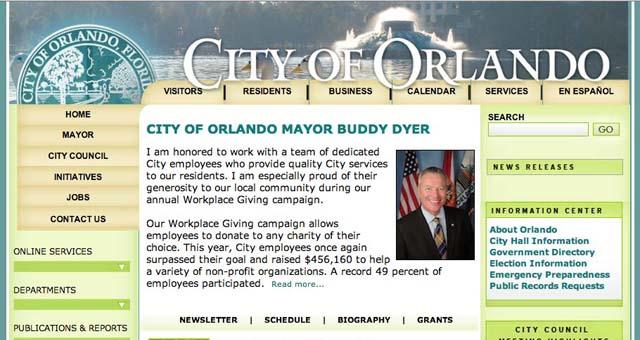 CityofOrlando.net User Experience