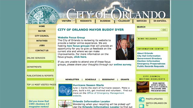 What are you looking for on CityofOrlando.net?