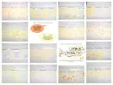 Display of post-it comments from community events