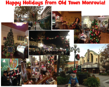 A photo collage I created with some if the sights from Old Town Monrovia during the holidays to share with my friends on Facebook.
