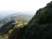 View from the proposed trail out of Monrovia Canyon Park (taken several years ago before it was closed to public access).
