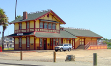 GREENVILLE , SC for a large city.. Benecia, CA for a smaller city. This is their old Train depot