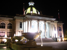 The Court House Square is a place to listening to music, dance, meet friends, attend a rally (like Aug. ERA rally)...